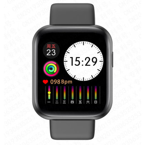 MobilePro X7 Smart Watch and Fitness Tracker - Black